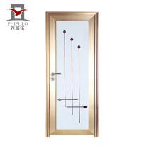 2018 Phipulo zhejaing fábrica de alumínio da porta do banheiro de vidro cheio