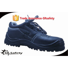 SRSAFETY 2015 industrial safety shoes emboss cow leather safety shoes black men shoes