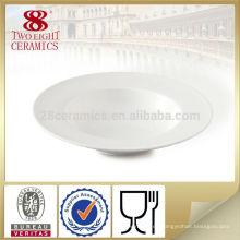 Vajilla de buffet al por mayor platos de porcelana plato restaurante para pasta