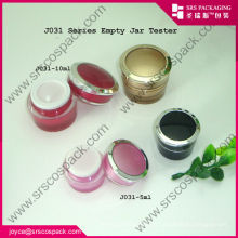 Small Round Gold Acrylic Cosmetic Jar Cream Container Wholesale