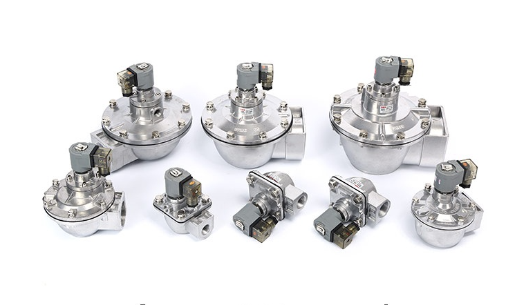 Different body sizes of DMF-Z series 90 degree right angle aluminum body electromagnetic valves