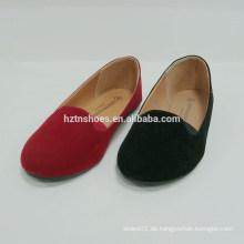 Delightful Color Pure Microfibre oberen flachen Frauen Schuh runden Toe Ballett Flats Schuhe