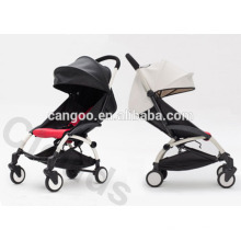 Black or White leather Aluminum Luxury Baby Strollers With Quick Folding System