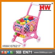 Alta qualidade de crianças plástico supermercado compras carro de brinquedo, carrinho de compras
