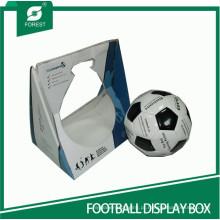 Caixa de exibição de futebol branco feito de papelão