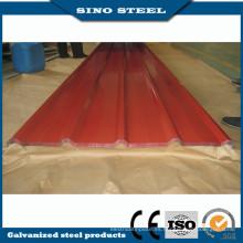 Hoja de acero corrugado revestido del color / hoja de la techumbre