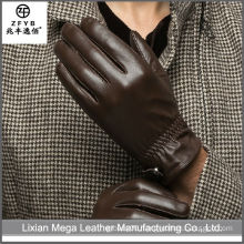 China Supplier High Quality soft skin brown tight leather gloves
