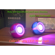 CE approve indoor room decorative adaptor power led mood lights changeable living color light