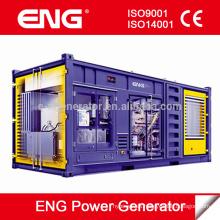 Generador de energía de 1250 kva en contenedor silencioso hecho