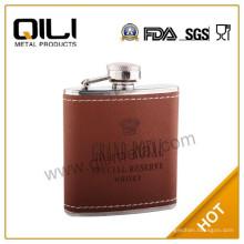 18/8 304 FDA и LFGB высокого качества 6 унций коричневый короны королевской Фляга
