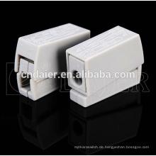 Lautsprecherkabel-Anschlusstypen; federbelastete Lautsprecherklemmen; Klemmleiste 2 Pin