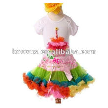 hot sale new design fashion girls lace pettiskirt