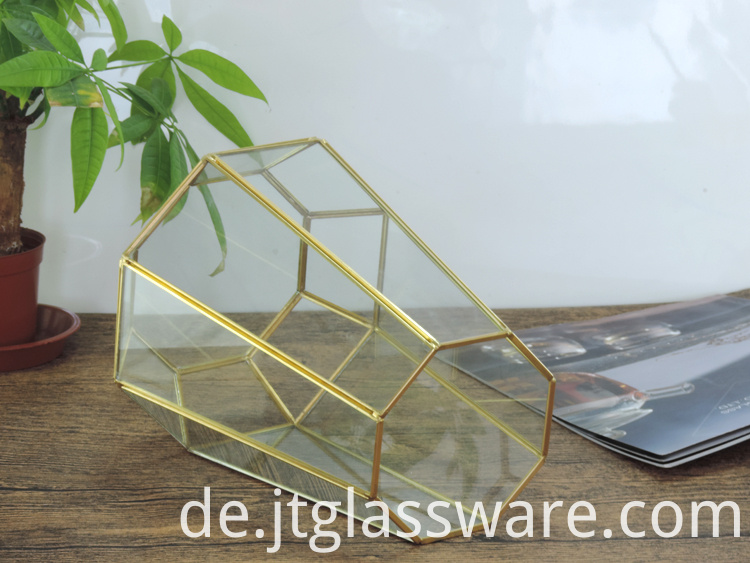Home decoration Glass Geometric Terrarium 6