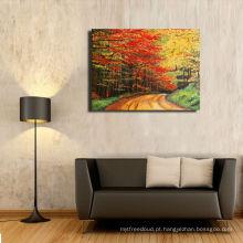 Pintura da lona com frame de madeira / impressões rolados para a decoração da parede