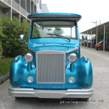Blue 12 Seats Electric Classic Car Sightseeing Car