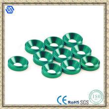 Rondelles en aluminium fraisées, rondelles en aluminium anodisées