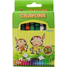 artist professional drawing pigment,24 pcs clear wax crayon