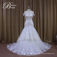 ab Schulter realen Hochzeit Kleider Proben