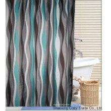 Popular cortina de ducha de diseño de poliéster