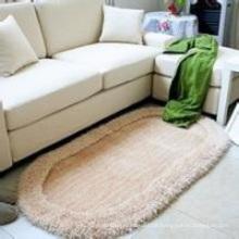 Die Oval Stretch Garn Thin Fiber Teppiche und Teppiche