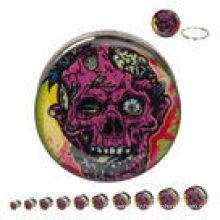Découpe Zombie Design 316L en acier Screw Fit bouchons d'oreille piercing