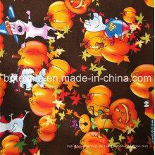 Shaoxing Supplier Latest Holloween Design Großhandel Urlaub Dekoration Roll Stoff Baumwollgewebe
