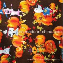 Shaoxing Fornecedor Últimas Holloween Design Atacado Decoração de Natal Roll tecido tecido de algodão