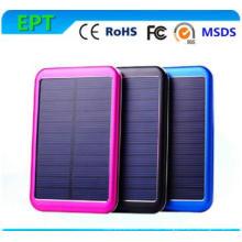 5000mAh wasserdichte Solarenergie Bank Alluminum Solar Mobile Ladegerät