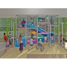 Nuevas estructuras de juego suave para niños Zona de juegos interior