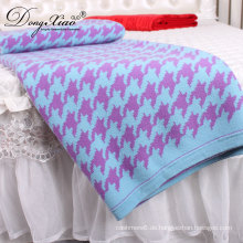 Günstige Wholeslae Pakistan Swaddle Design Bett Wolle Cashmere werfen Babydecke