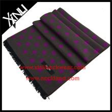 Écharpe à pois en soie haute couture hiver