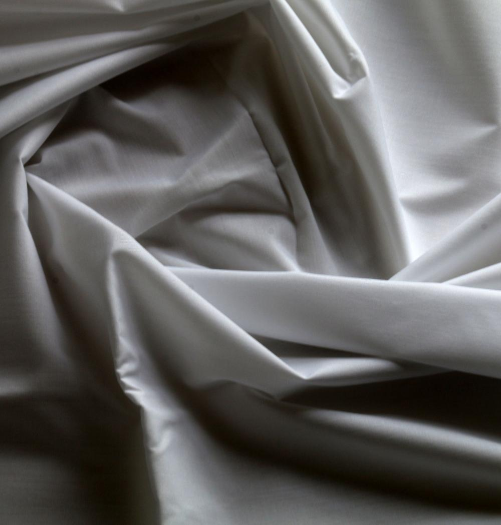 poplin pocket  white fabric