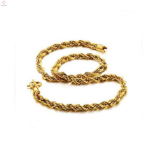 Copper plating 18k gold rope chain necklace,brass necklaces wholesale