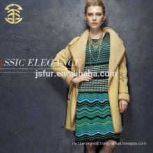 Winter Elegant Women's coat Luxurious Girl Sexy Fur Merino Wool Sheepskin Wool One And Leather Jacket
