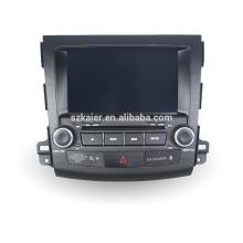 Quad core voiture gps de navigation avec caméra de recul sans fil, wifi, BT, lien miroir, DVR, SWC pour Mitsubishi outlander 2006-2011