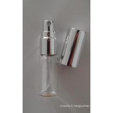 Flacon pulvérisateur clair tubulaire pour Mini parfum emballage cosmétique
