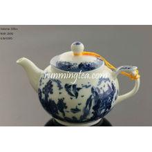 Pot de thé de paysage 300 cc, sombre