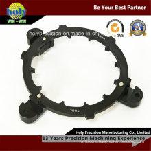 Black Anodized Aluminum CNC Machining Ring with Engraving Logo