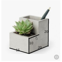 G617 granite pen holder flower pot