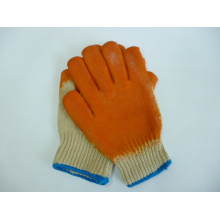 Guantes de seguridad de goma, hechos de algodón, (LG003)