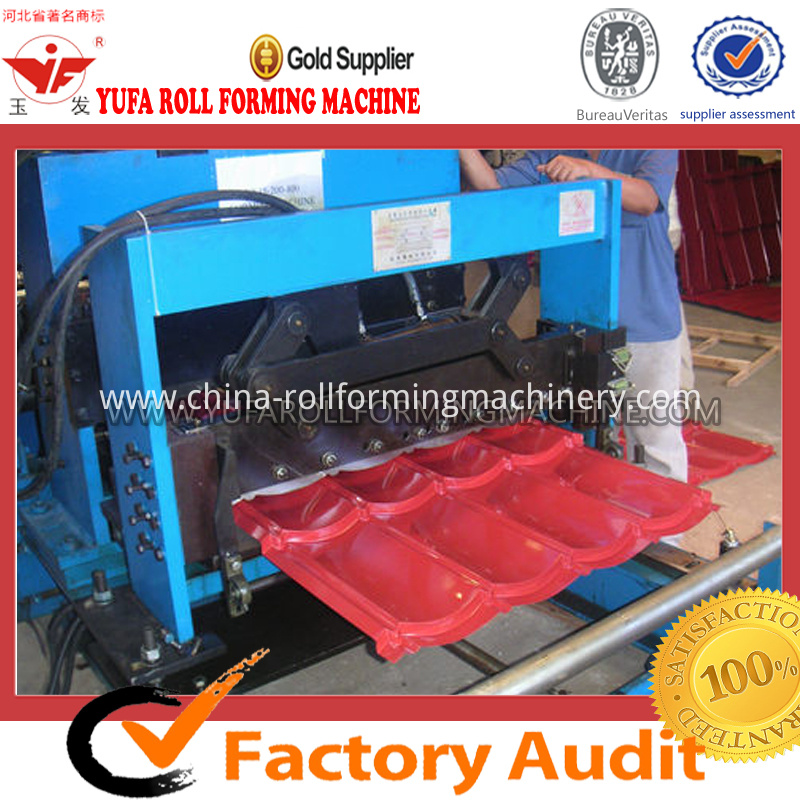 aluminium glazed tile roof panel making machine