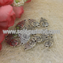 18*10MM Owl Charms Antique Silver Tone Adorable Baby Owls