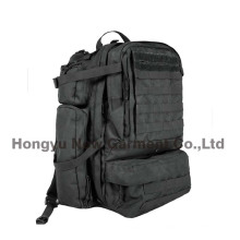 Heavy Duty Military Army Big Black Backpack Bag (HY-B096)