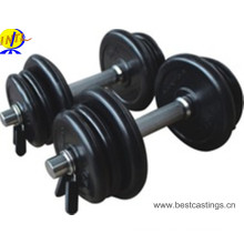 2015 New Adjustable Rubber Dumbbells Plate with Chrome Handle