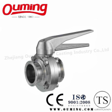 Ss316 Sanitary Manual Clamped Butterfly Valve