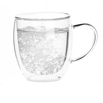 OEM Supplier for for Tea Cup Double Wall Custom Glass Mug For Black Coffee export to India Suppliers