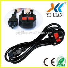 Wholesale UK 3 round Pin Plug 230v Power Cord Power Cable ac power supply cord