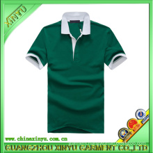 100% Cotton Dark Green Customized Promotion Polo Shirts