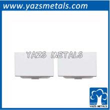 botão de punho de metal personalizado, abotoaduras gravadas em letras de prata de alta qualidade personalizadas