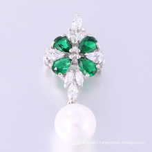 new design 925 sterling silver cubic zirconia brooch